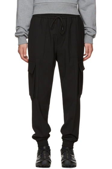 Juun.J - Black Drawstring Cargo Pants