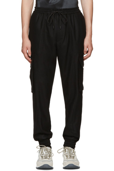 Juun.J - Black Wool Cargo Pants
