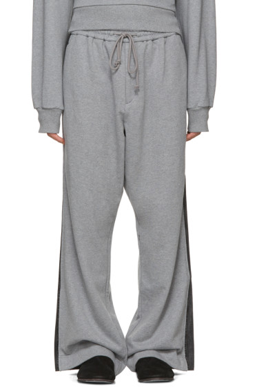Juun.J - Grey Wide-Leg Lounge Pants