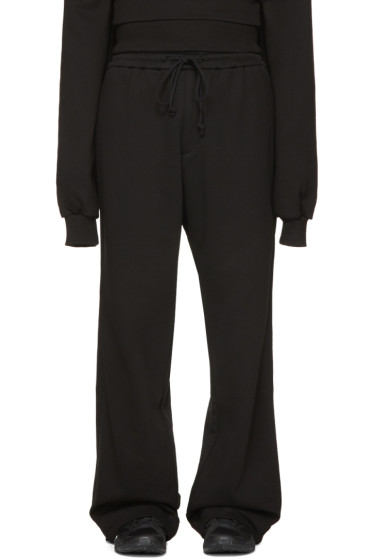 Juun.J - Black Wide-Leg Lounge Pants