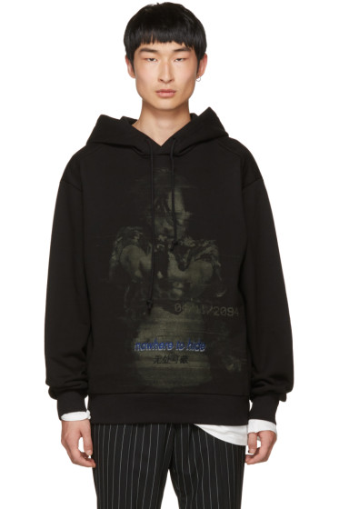 Juun.J - Black 'Somewhere To Hide' Hoodie