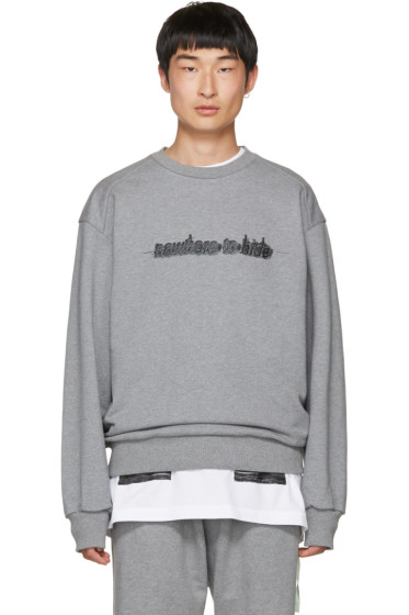 Juun.J - Grey 'Nowhere To Hide' Sweatshirt