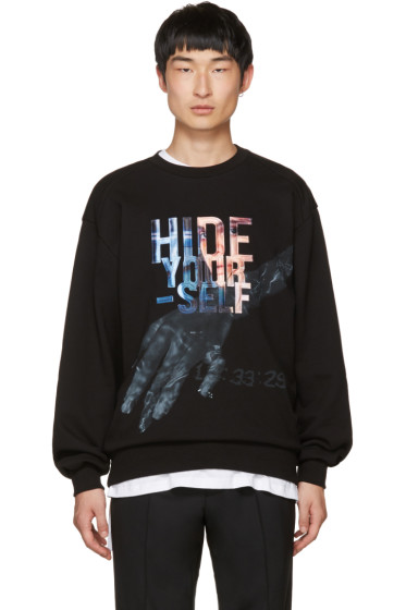 Juun.J - Black 'Hide Yourself' Sweatshirt