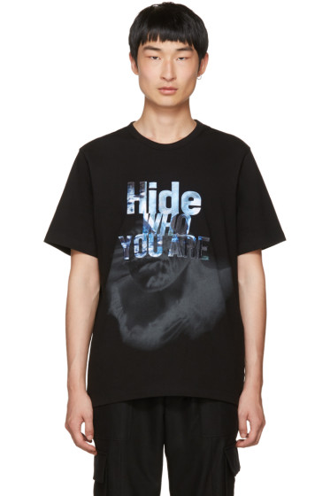 Juun.J - Black 'Hide Who You Are' T-Shirt