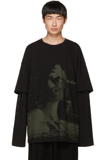 Juun.J - Black Layered T-Shirt