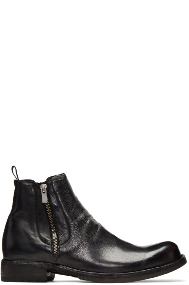 Officine Creative - Black Ikon 39 Zip Boots