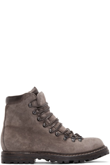 Officine Creative - Taupe Suede Kontra Hiking Boots