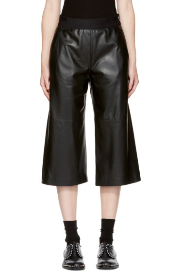 Neil Barrett - Black Leather Slouch Pants