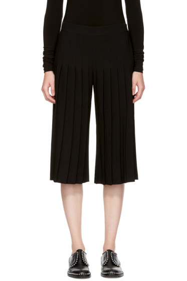 Neil Barrett - Black Pleated Wide-Leg Trousers
