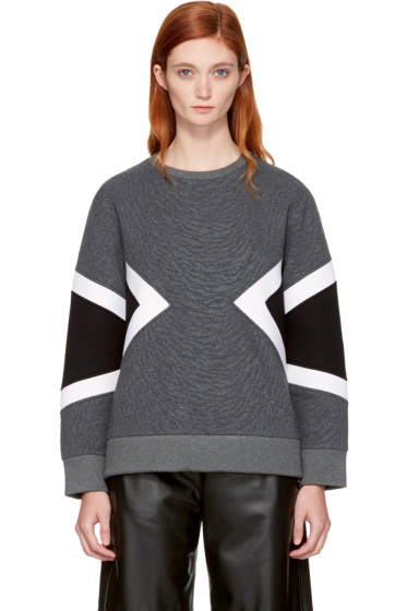 Neil Barrett - Grey Zebra Modernist Sweatshirt