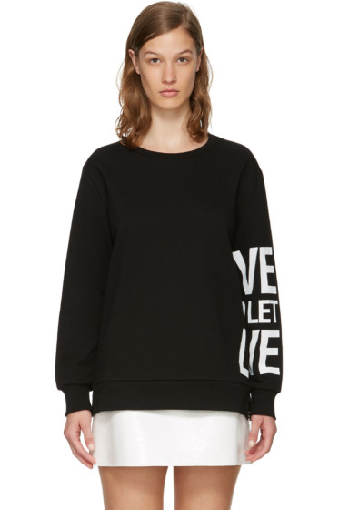 Neil Barrett - Black 'Live And Let Live' Sweatshirt