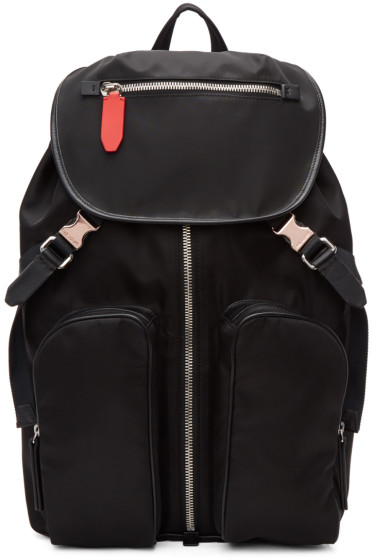 Neil Barrett - Black Nylon Flap Backpack