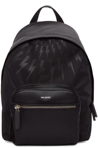 Neil Barrett - Black Thunderbolt Day Backpack