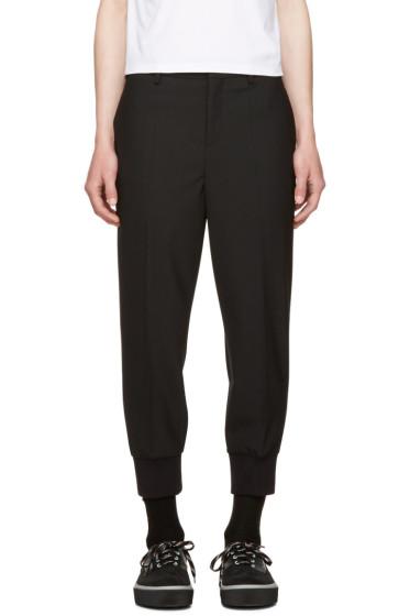 Neil Barrett - Black Rib Cuff Tailored Trousers