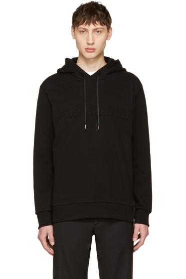 Neil Barrett - Black Embossed Logo Hoodie