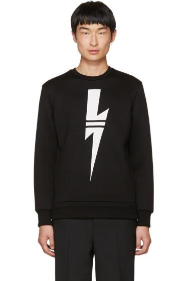Neil Barrett - Black Sport Thunderbolt Sweatshirt