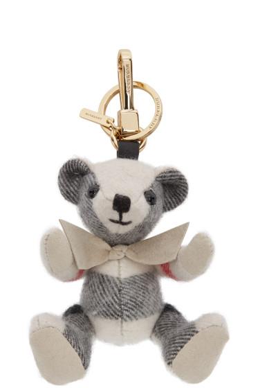 Burberry - Ivory Check Thomas Keychain