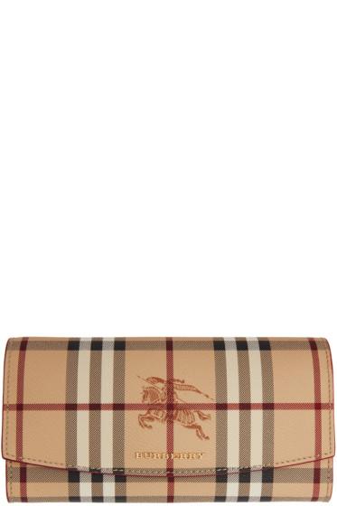 Burberry - Pink Halton Haymarket Check Wallet