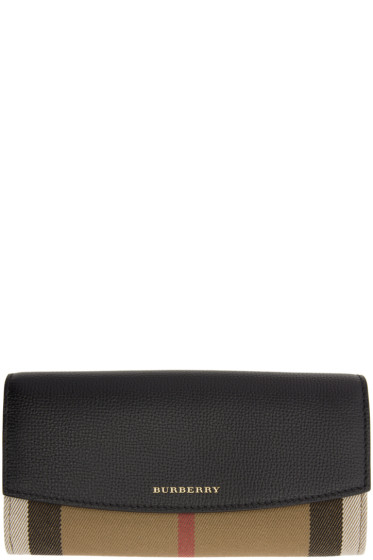 Burberry - Black Porter House Check Derby Wallet