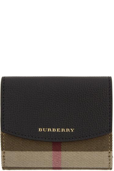 Burberry - Black Luna House Check Derby Wallet