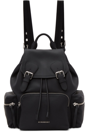 Burberry - Black Leather Rucksack