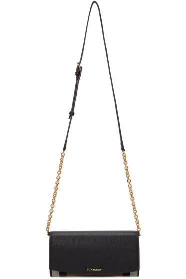 Burberry - Black Henley House Check Derby Bag
