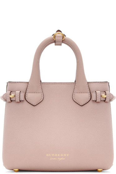 Burberry - Pink Mini Banner Tote