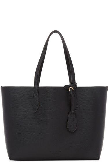 Burberry - Reversible Black Haymarket Tote