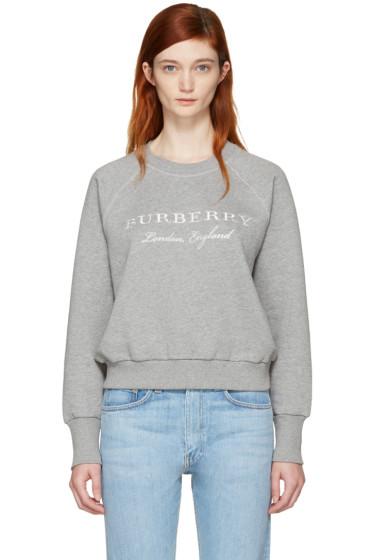 Burberry - Grey Torto Logo Sweatshirt