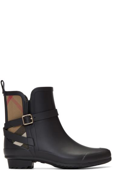 Burberry - Black Riddelstone Rain Boots