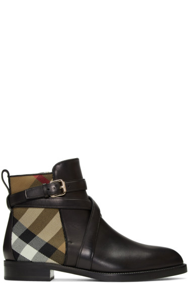 Burberry - Black Vaughan Boots