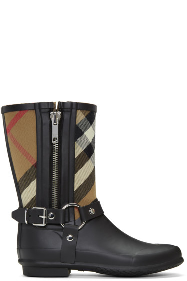 Burberry - Black Zane Rain Boots