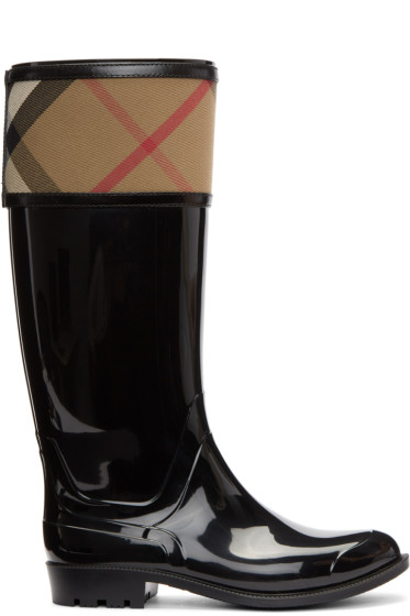 Burberry - Black Croshill Rain Boots