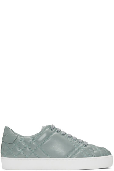 Burberry - Blue Quilted Westford Sneakers