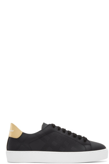 Burberry - Black Westford Check Sneakers