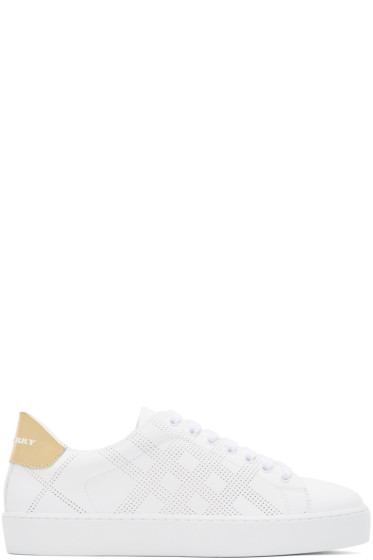 Burberry - White Westford Check Sneakers