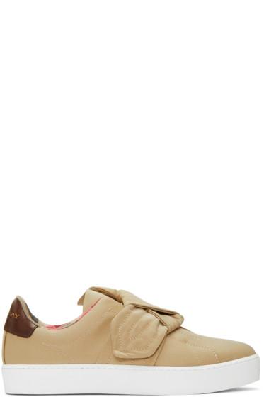 Burberry - Beige Westford Knot Slip-On Sneakers