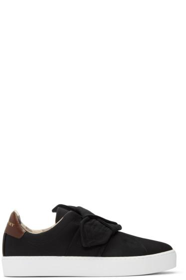 Burberry - Black Westford Knot Slip-On Sneakers