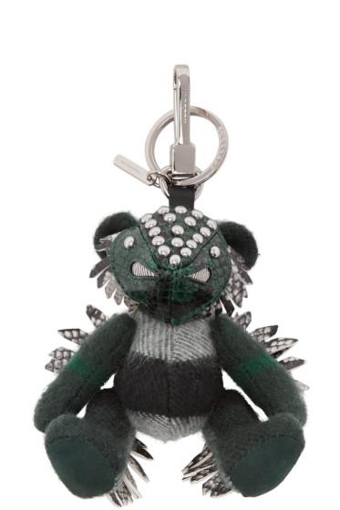 Burberry - Green Check Thomas Fish Keychain