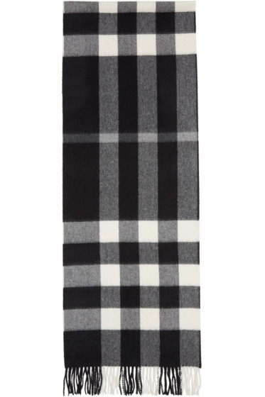 Burberry - Black Large Classic Cashmere Check Scarf