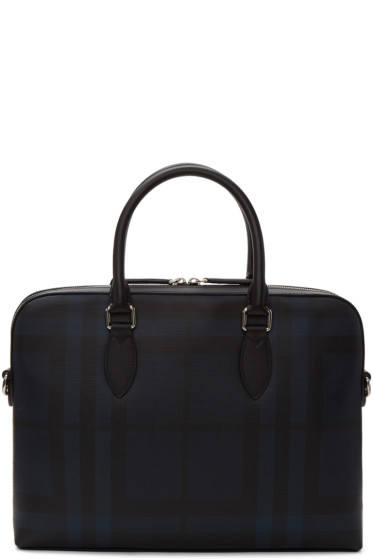 Burberry - Navy 'The Barrow' London Check Briefcase