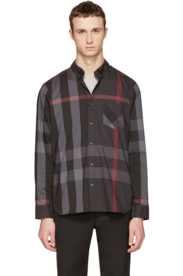 Burberry - Grey Check Thornaby Shirt