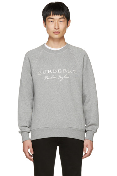 Burberry - Grey Logo Taydon Sweatshirt