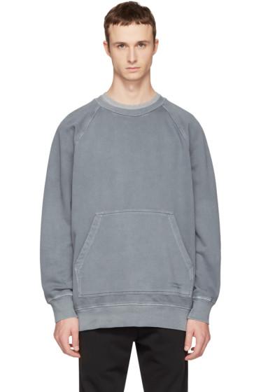 Burberry - Blue Oversized Garment-Dyed Sweatshirt