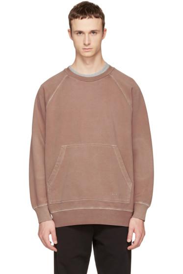 Burberry - Pink Oversized Garment-Dyed Sweatshirt