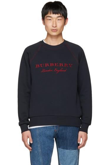 Burberry - Navy Logo Taydon Sweatshirt