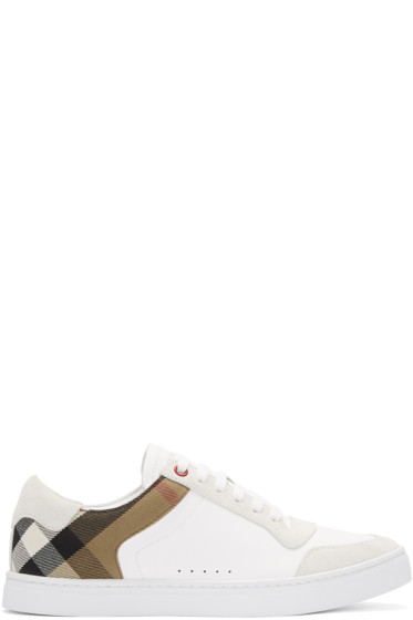 Burberry - White Reeth Sneakers