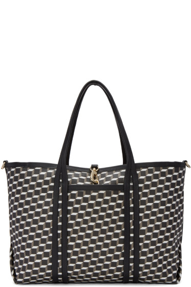 Pierre Hardy - Tricolor Perspective Cube Tote