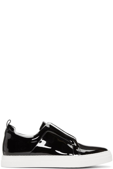 Pierre Hardy - Black Patent Slider Sneakers