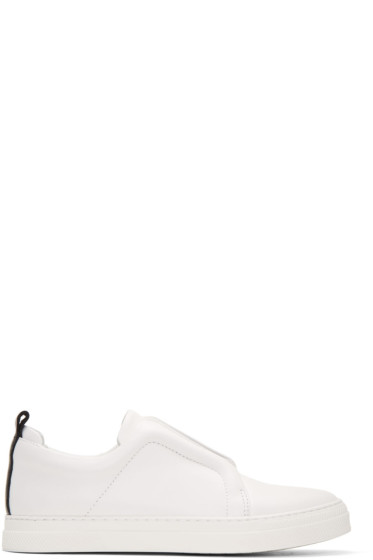 Pierre Hardy - White & Black Slider Sneakers